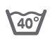 Стирка при температуре не выше 40 градусов