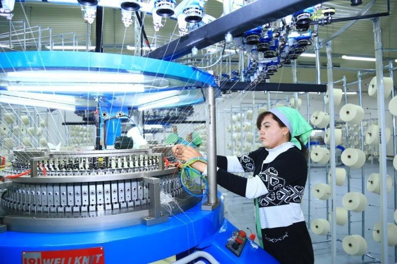 Производство ткани футер