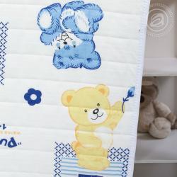 """Трикотажное детское покрывало """"Медвежата"""""""