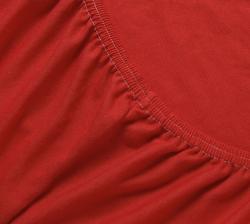 Купить красную трикотажную простынь на резинке