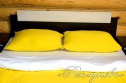 """Трикотажное постельное белье """"Желто-белое"""""""