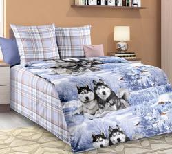 Купить постельное белье из бязи «Хаски вид 1» (1.5 спальное)