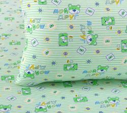 """Купить детское постельное белье из трикотажа """"Мой друг (зеленый)"""""""