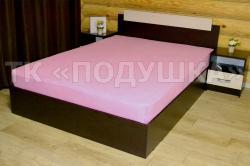 Купить розовую махровую простынь на резинке в Рязани