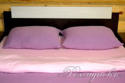 """Трикотажное постельное белье """"Лилово-розовое"""""""