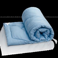 Одеяло из лебяжьего пуха (в полисатине, всесезонное)  ТМ Василиса