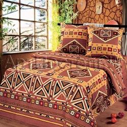 """Постельное белье из бязи """"Африка"""" (1,5 спальный, 2-х спальный, евро, дуэт) ТМ АртПостель, Иваново"""