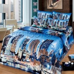 """Постельное белье из сатина """"Мегаполис"""" (1,5 спальный, 2-х спальный, евро) ТМ АртПостель, Иваново"""